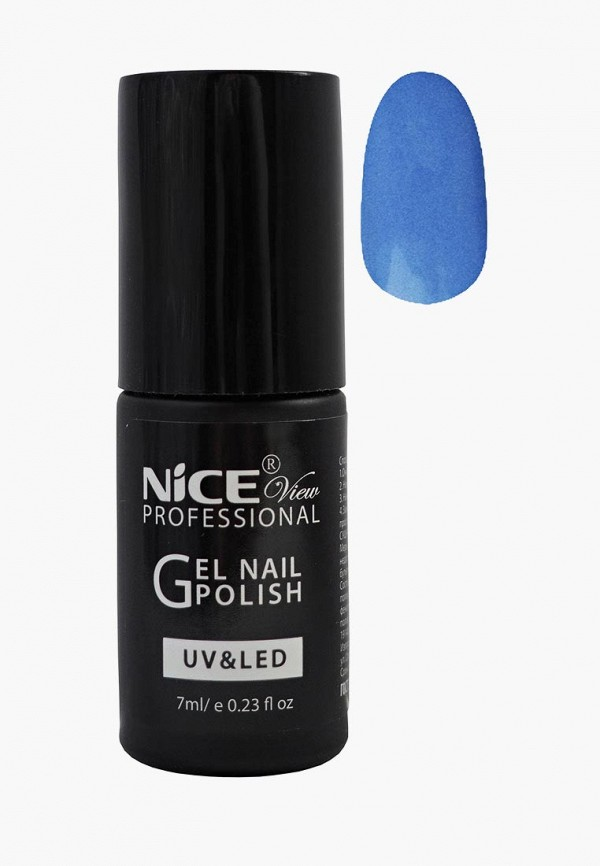женский лак для ногтей nice view, голубой