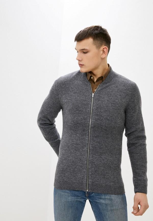 мужской кардиган nines collection, серый