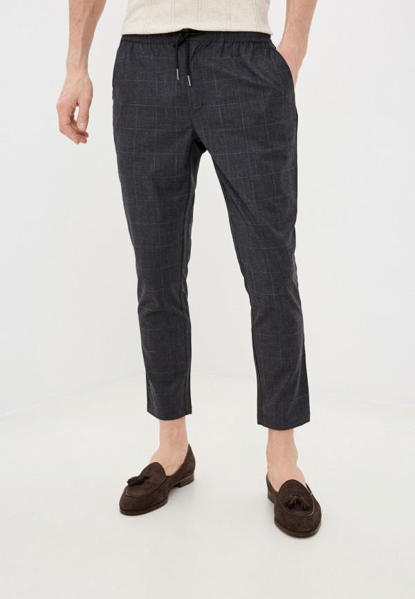 мужские повседневные брюки nines collection, серые