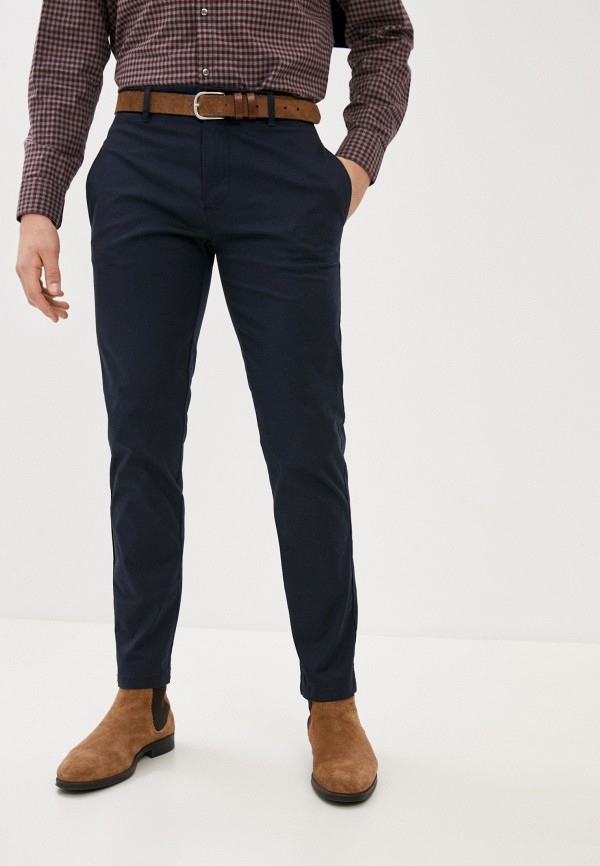 мужские брюки чинос nines collection, синие