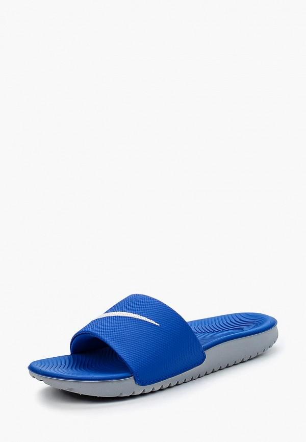Купить Сланцы Nike, Nike Kawa Kids' Slide, ni464abbdqa6, синий, Весна-лето 2018