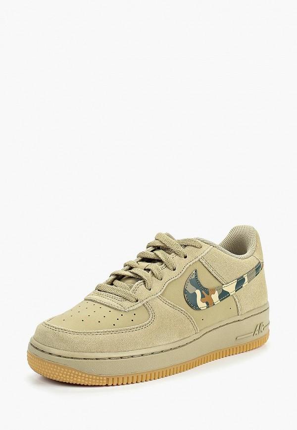 Купить Кеды Nike, Boys' Nike Air Force 1 (GS) Shoe, ni464abbysn8, хаки, Осень-зима 2018/2019