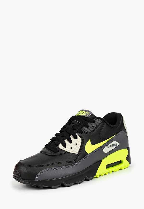 Купить Кроссовки Nike, NIKE AIR MAX 90 LTR (GS), ni464abclsx4, черный, Осень-зима 2018/2019