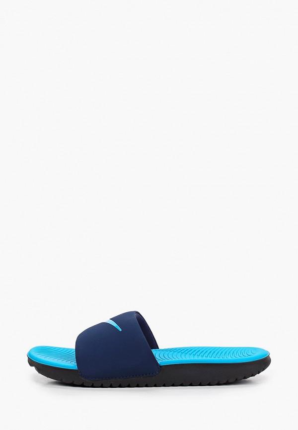 сланцы nike для мальчика, синие