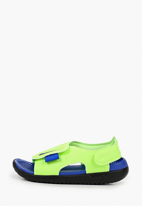 сандалии nike для мальчика, зеленые