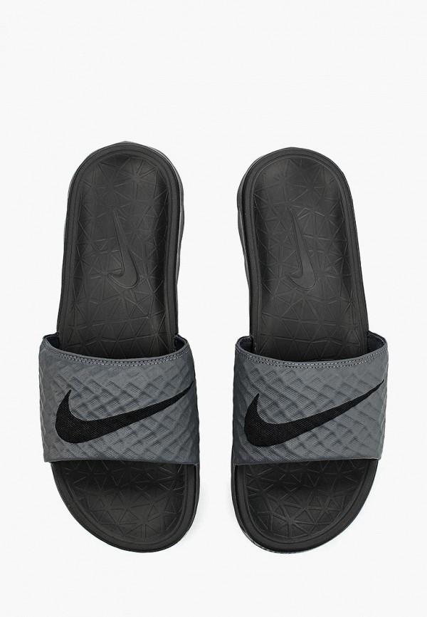 Фото 4 - Сланцы Nike серого цвета