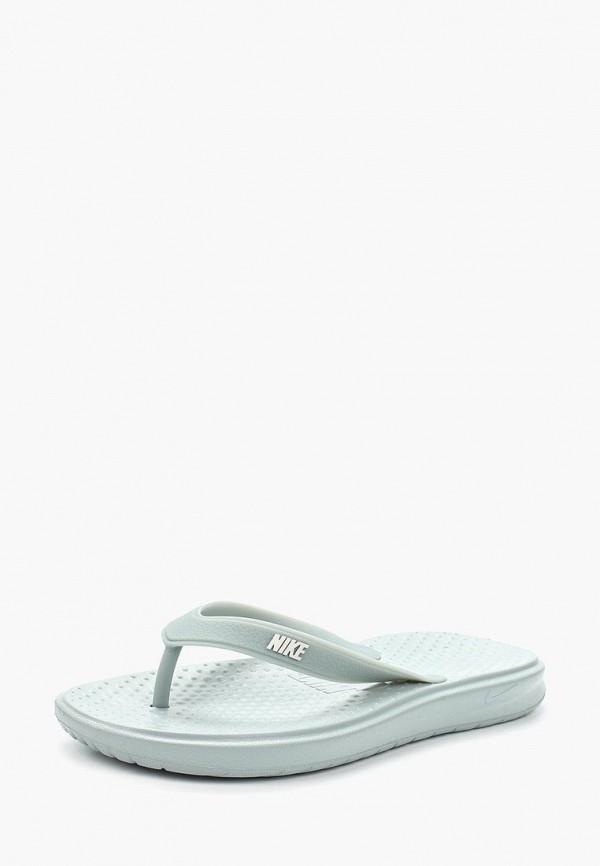 Купить Сланцы Nike, SOLAY THONG, NI464AMAAOM3, серый, Весна-лето 2018