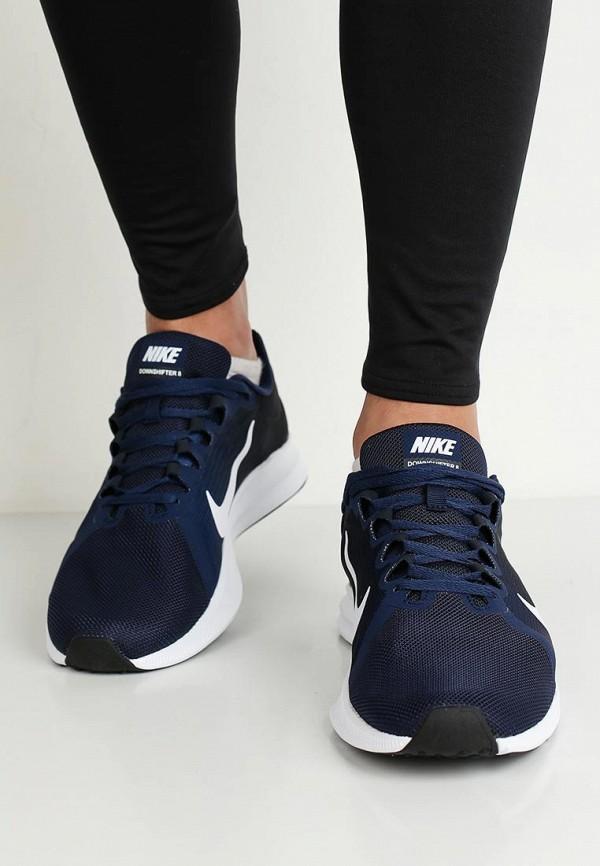 Фото 5 - мужские кроссовки Nike синего цвета
