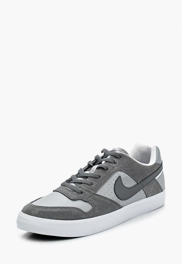 Фото - мужские кеды Nike серого цвета