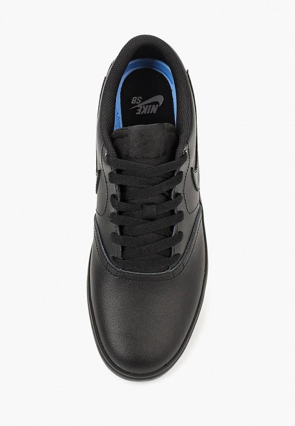 Фото 4 - мужские кеды Nike черного цвета