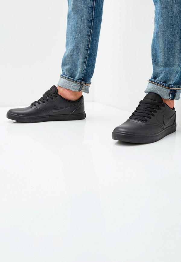 Фото 5 - мужские кеды Nike черного цвета