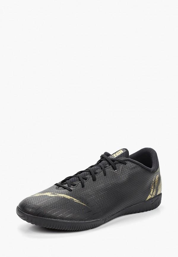 Фото 2 - Бутсы зальные Nike черного цвета