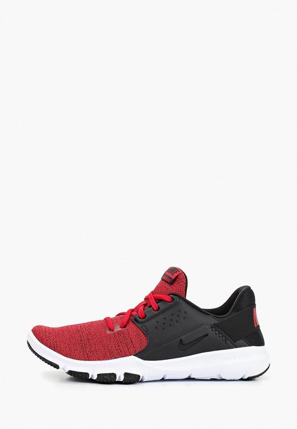 Мужские красные кожаные кроссовки