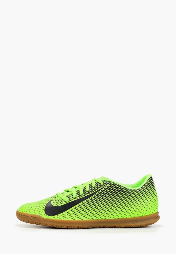 Фото - Бутсы зальные Nike зеленого цвета