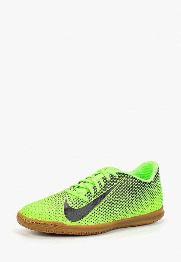 Фото 2 - Бутсы зальные Nike зеленого цвета