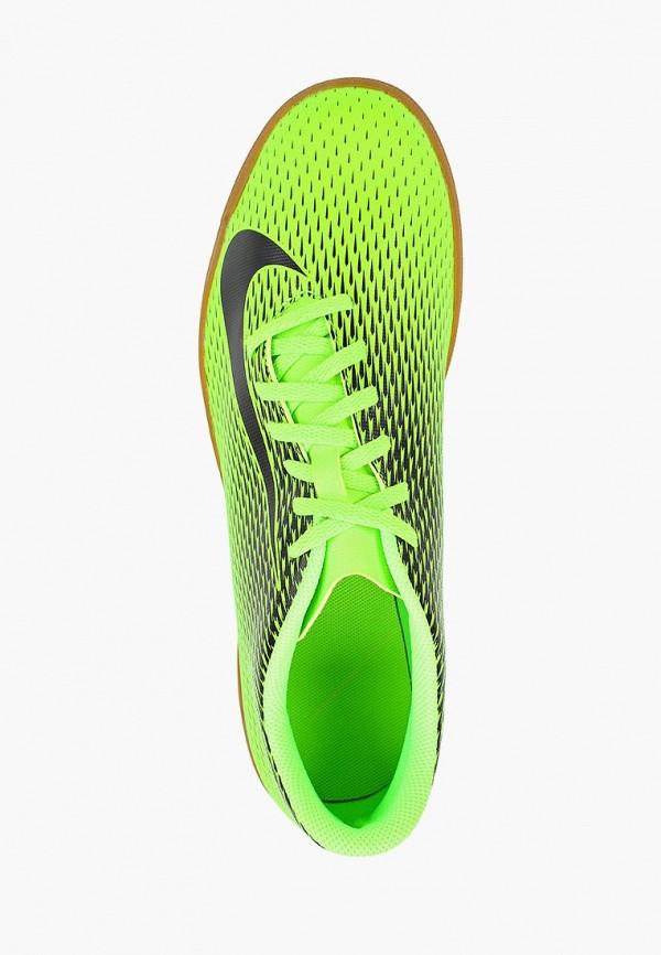 Фото 4 - Бутсы зальные Nike зеленого цвета