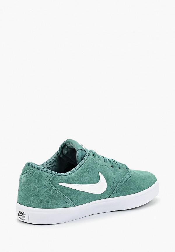 Фото 3 - мужские кеды Nike зеленого цвета