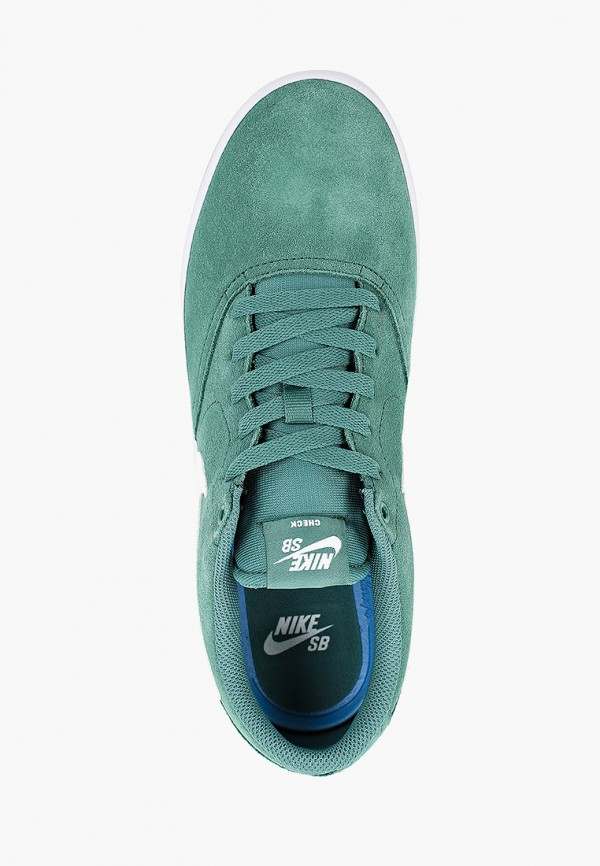 Фото 4 - мужские кеды Nike зеленого цвета