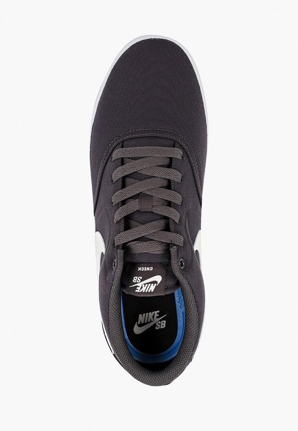 Фото 4 - мужские кеды Nike серого цвета