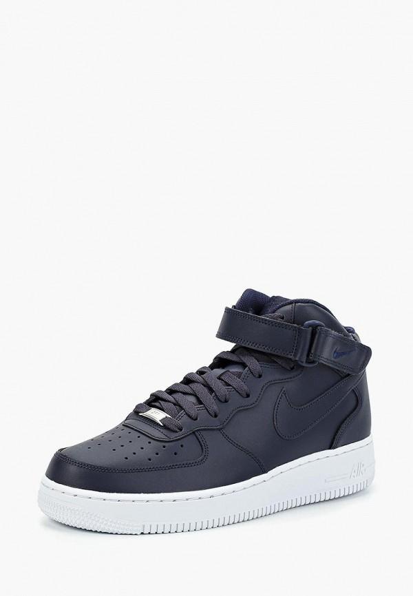 Фото 2 - мужские кеды Nike синего цвета