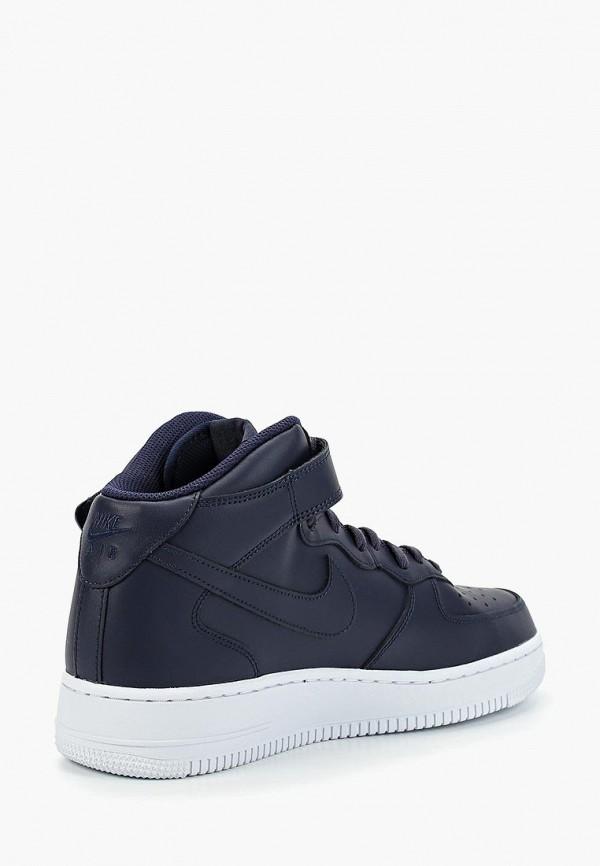 Фото 3 - мужские кеды Nike синего цвета