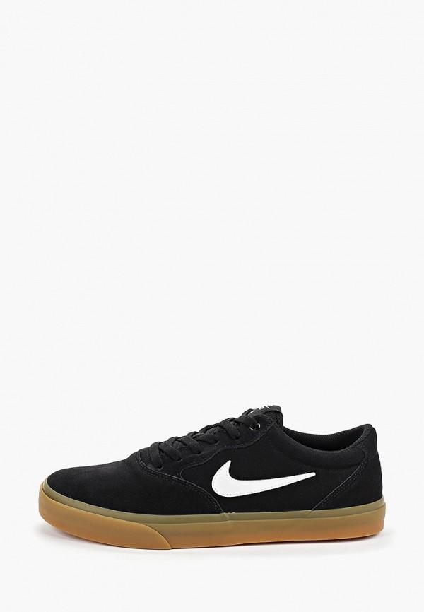 Фото - мужские кеды Nike черного цвета