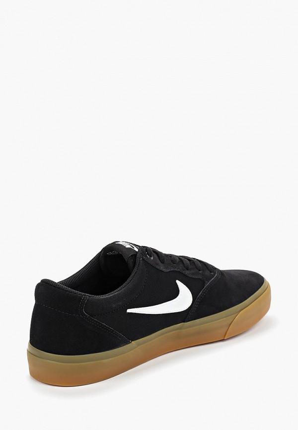 Фото 3 - мужские кеды Nike черного цвета