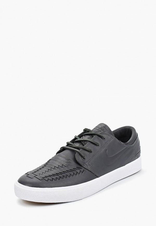 Фото 2 - мужские кеды Nike серого цвета