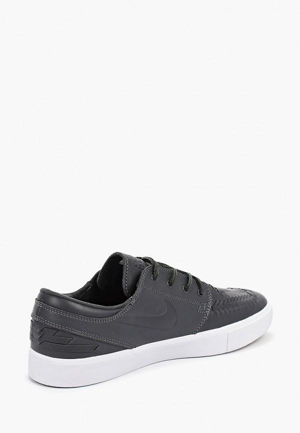 Фото 3 - мужские кеды Nike серого цвета