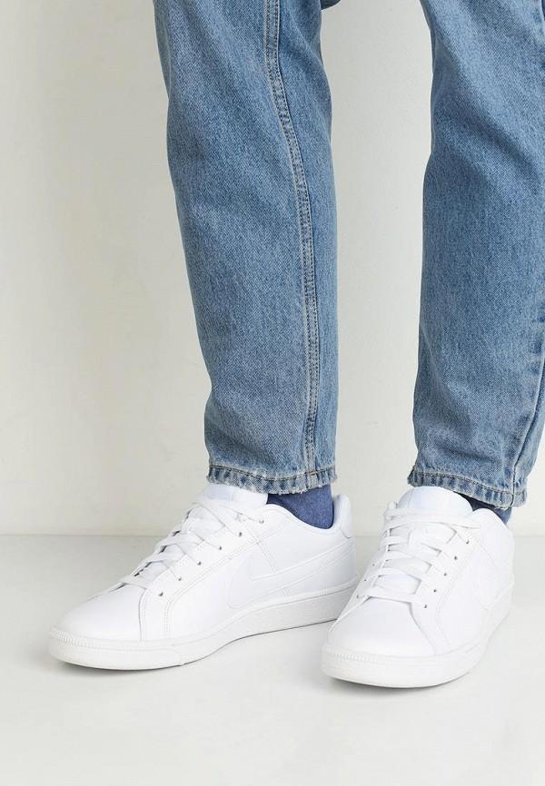 Фото 5 - мужские кеды Nike белого цвета