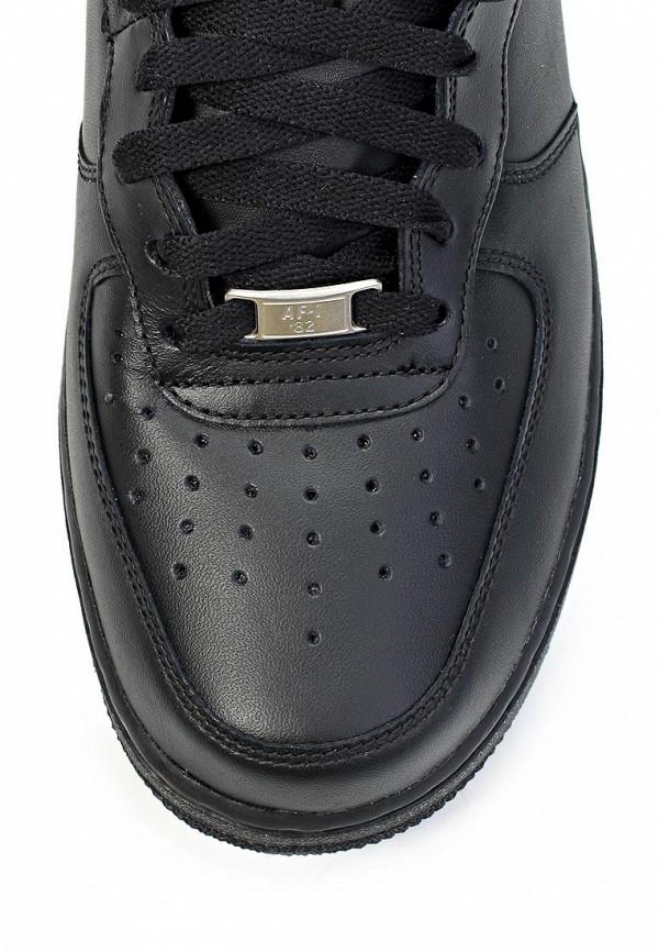 Фото 6 - мужские кеды Nike черного цвета