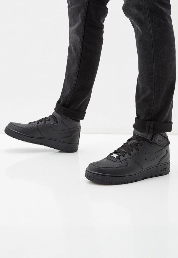 Фото 19 - мужские кеды Nike черного цвета