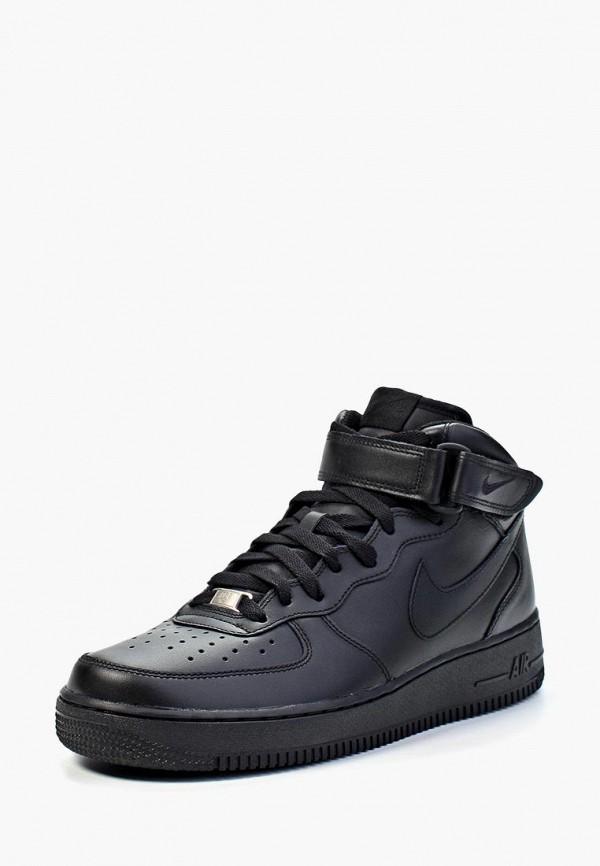 Фото 8 - мужские кеды Nike черного цвета