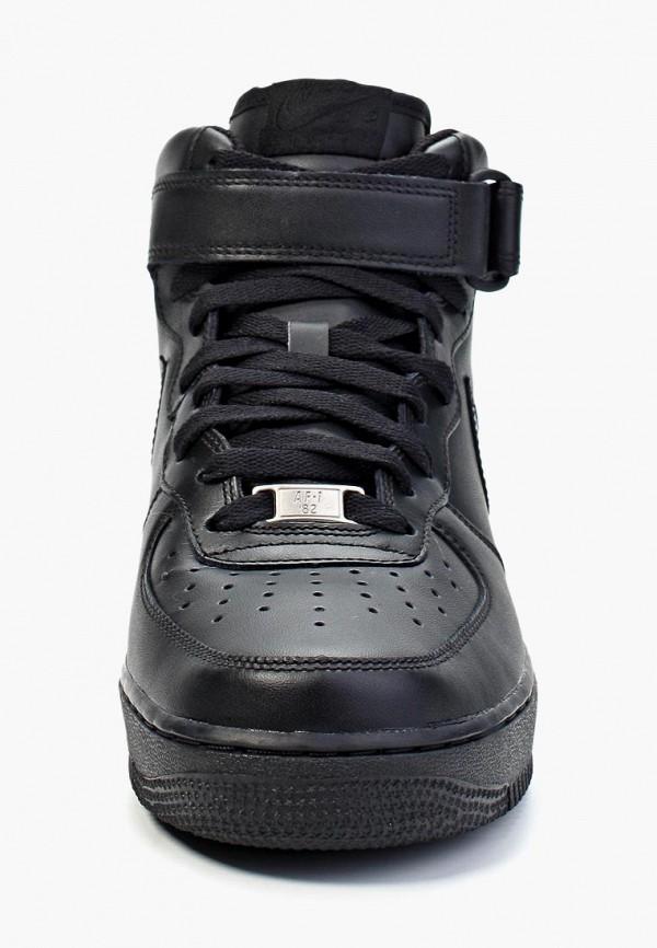 Фото 11 - мужские кеды Nike черного цвета