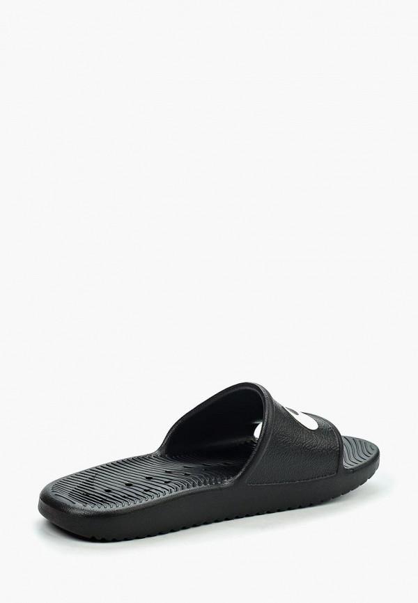 Фото 2 - Сланцы Nike черного цвета