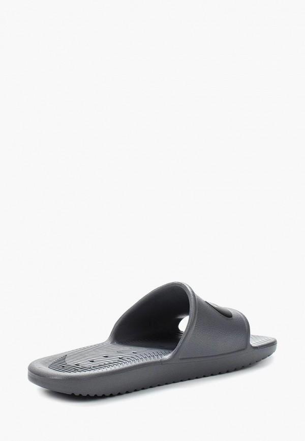 Фото 2 - Сланцы Nike серого цвета