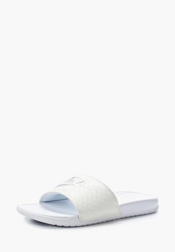 Фото - Сланцы Nike белого цвета