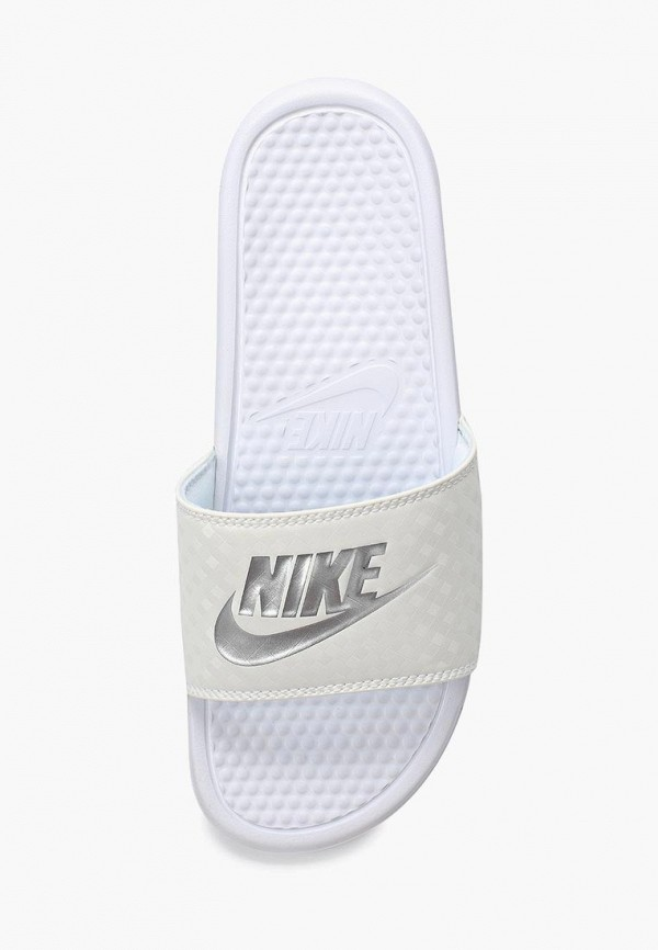 Фото 2 - Сланцы Nike белого цвета