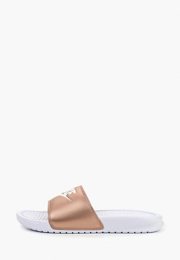 Купить Сандалии Nike, WMNS BENASSI JDI, ni464awetna7, золотой, Весна-лето 2019