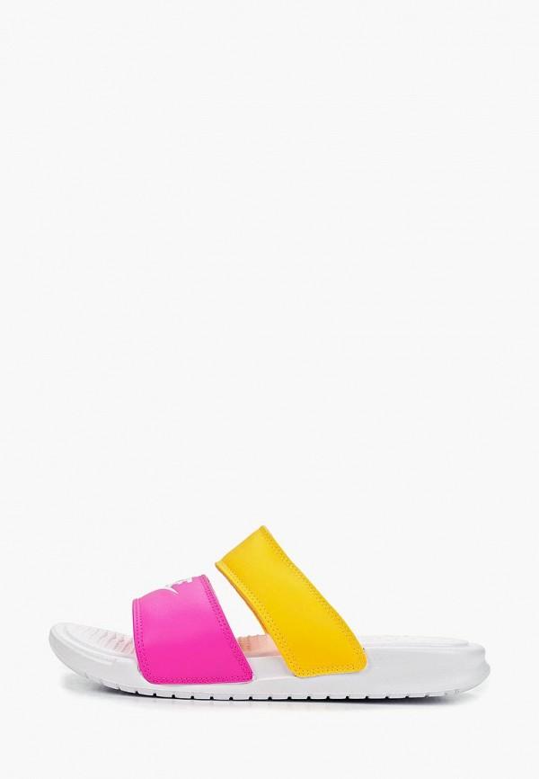 Купить Сабо Nike, WMNS BENASSI DUO ULTRA SLIDE, ni464awetnb6, разноцветный, Весна-лето 2019