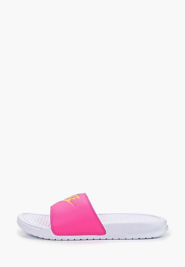 женское сабо nike, розовое