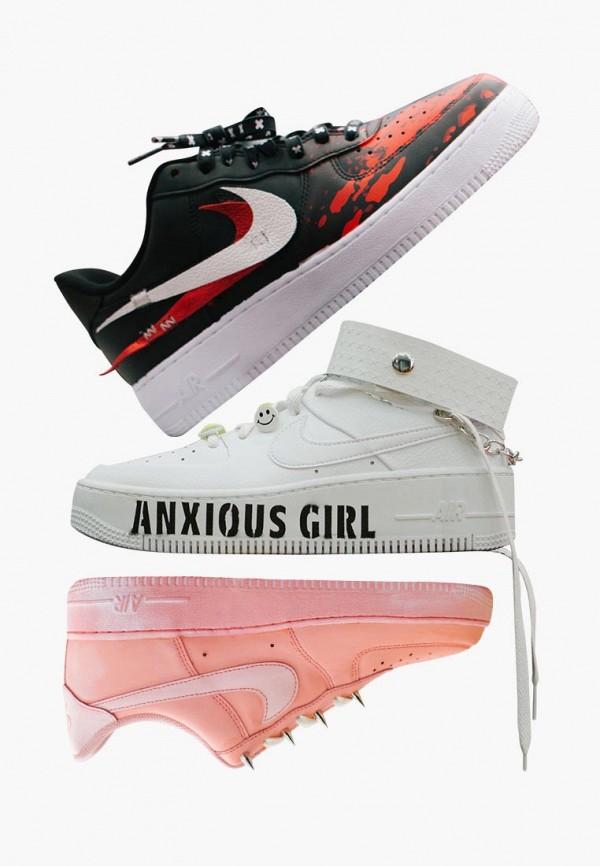 Фото 13 - женские кроссовки Nike белого цвета