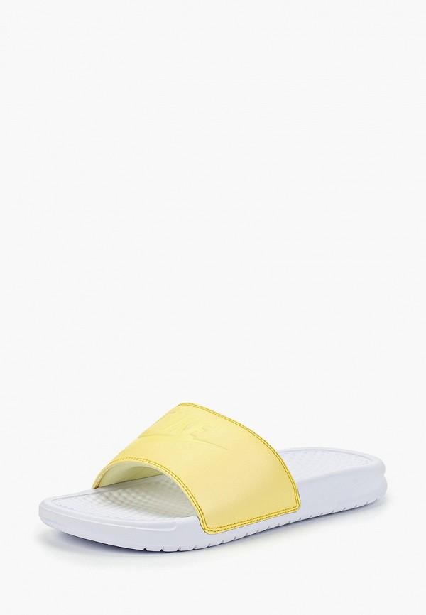 Фото 2 - Сланцы Nike желтого цвета