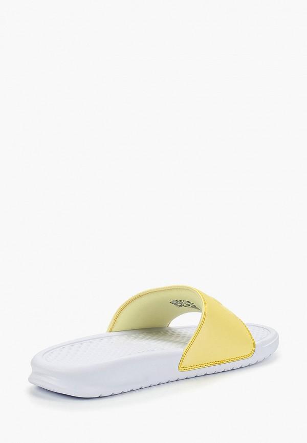 Фото 3 - Сланцы Nike желтого цвета