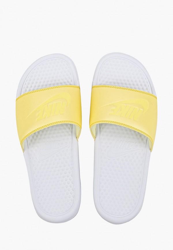 Фото 4 - Сланцы Nike желтого цвета