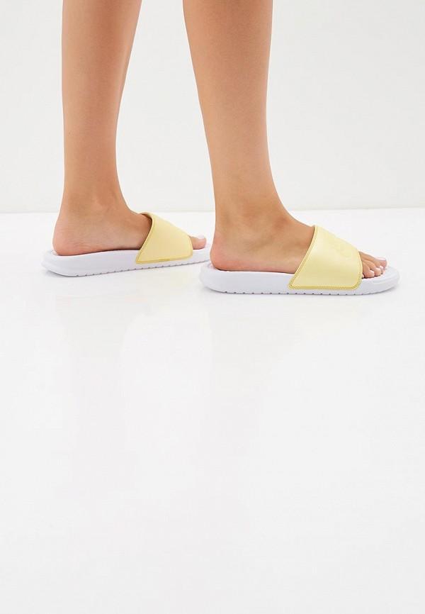 Фото 6 - Сланцы Nike желтого цвета
