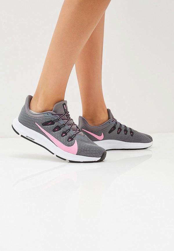 Фото 6 - женские кроссовки Nike серого цвета