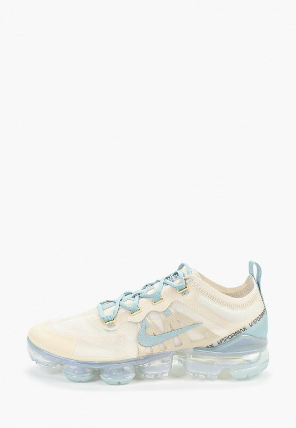 Фото - женские кроссовки Nike бежевого цвета