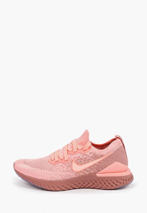 Фото - женские кроссовки Nike розового цвета