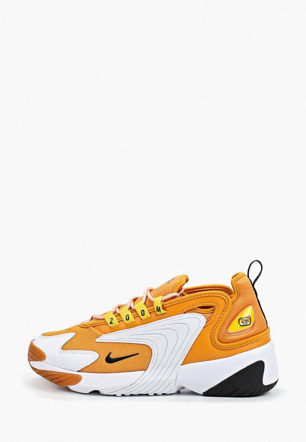 женские кроссовки nike, оранжевые